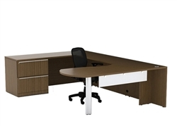 Cherryman VL-725 Verde Executive Desk with 2 Drawer Lateral File Cabinet