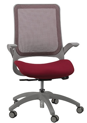 eurotech seating hawk burgundy and gray office chair