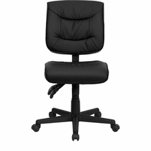 flash furniture armless leather task chair