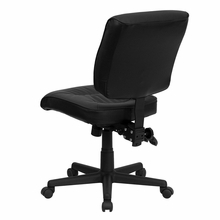 flash furniture armless leather task chair back view