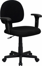 Flash Furniture Black Fabric Computer Chair with Adjustable Arms