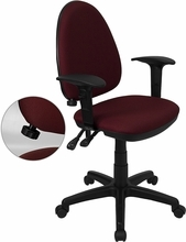 Flash Furniture Ergonomic Task Chair with Arms and Lumbar Support