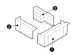 u shaped reception desk components