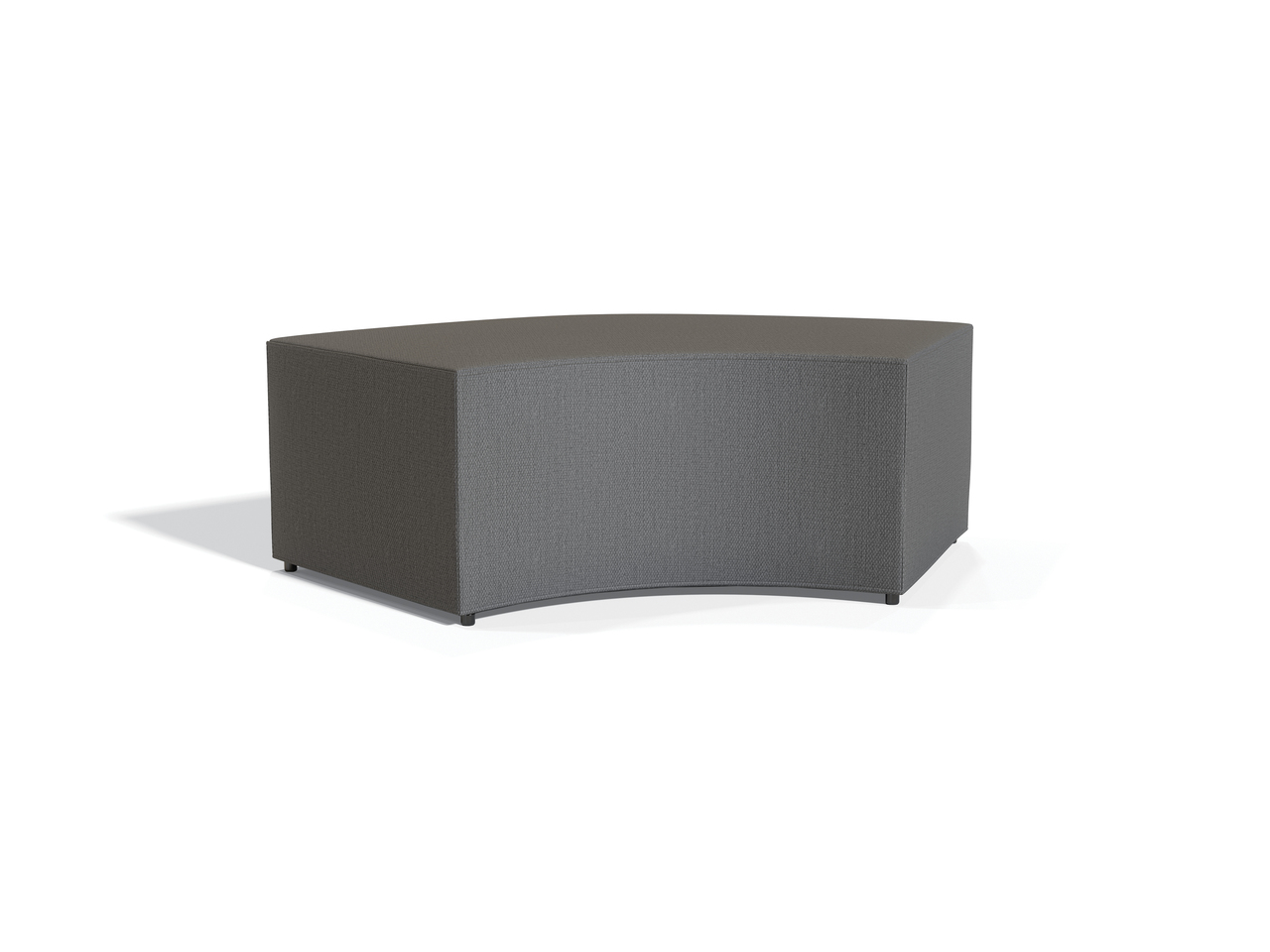 offices to go v shaped reception ottoman 13010 in grey