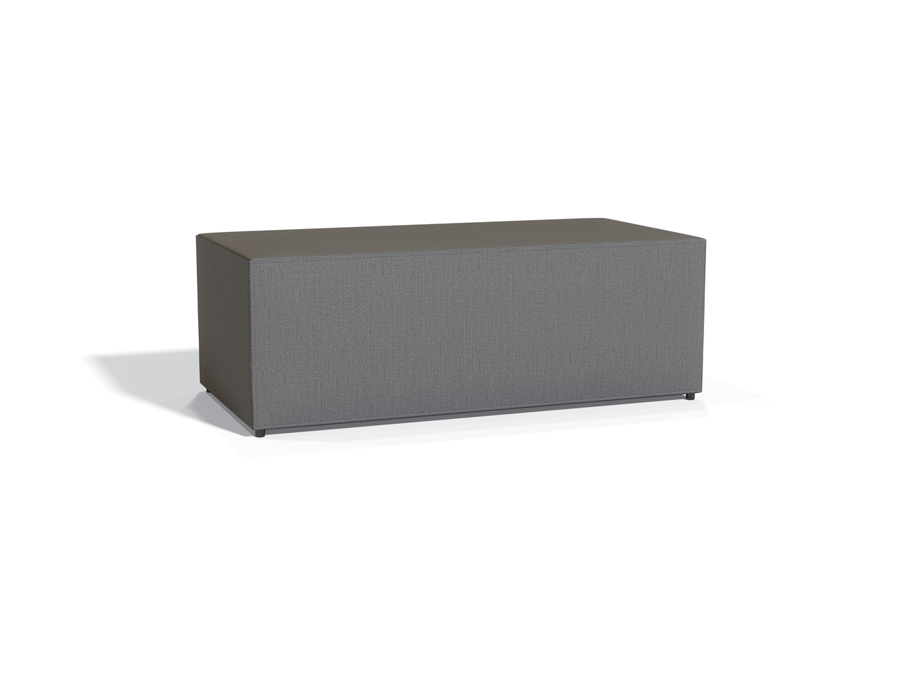 offices to go modular reception ottoman in grey