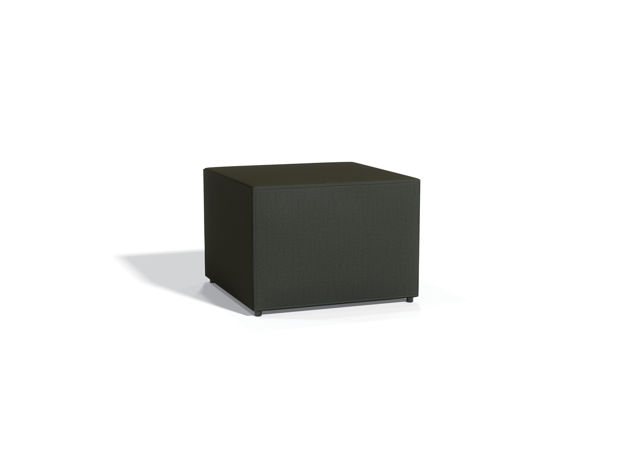 model 13012 square offices to go ottoman in carbon