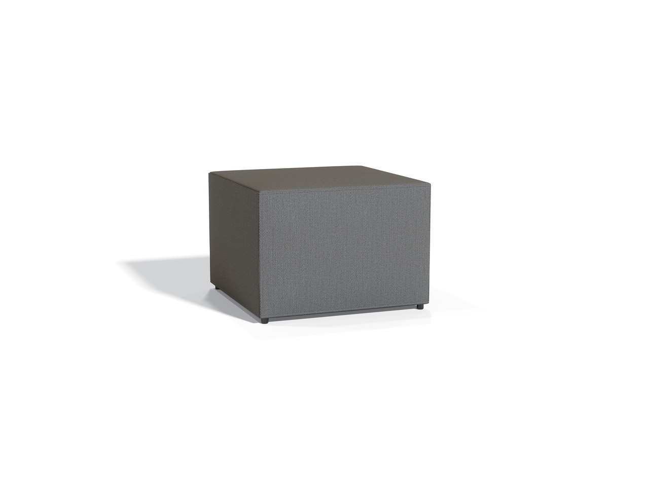 model 13012 square shaped offices to go ottoman in grey
