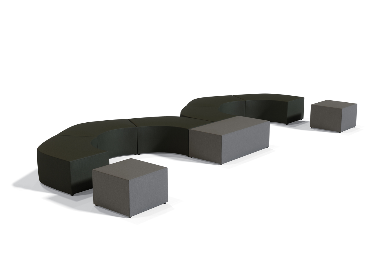 offices to go large modular ottoman configuration