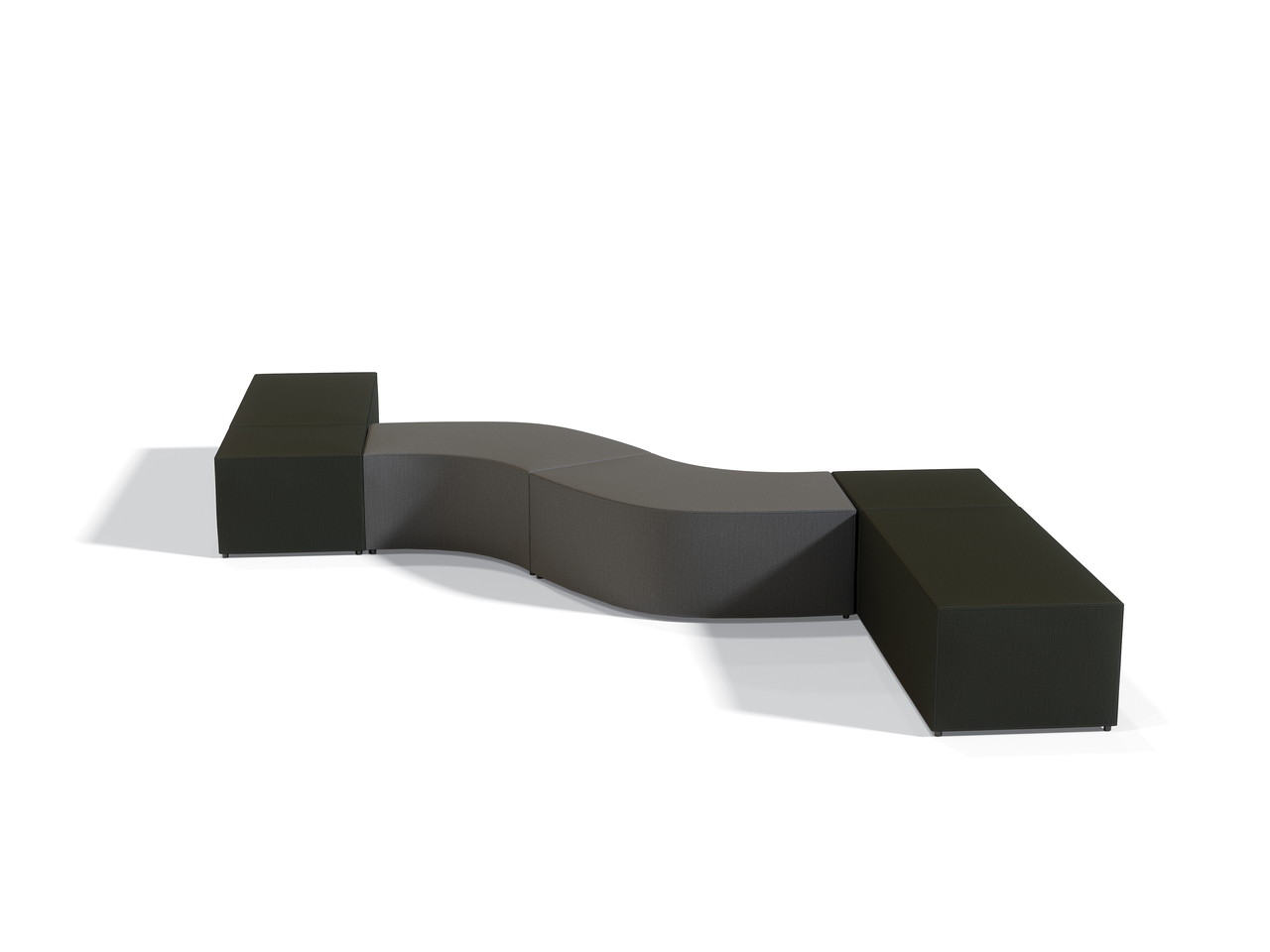 modular ottoman layout by offices to go
