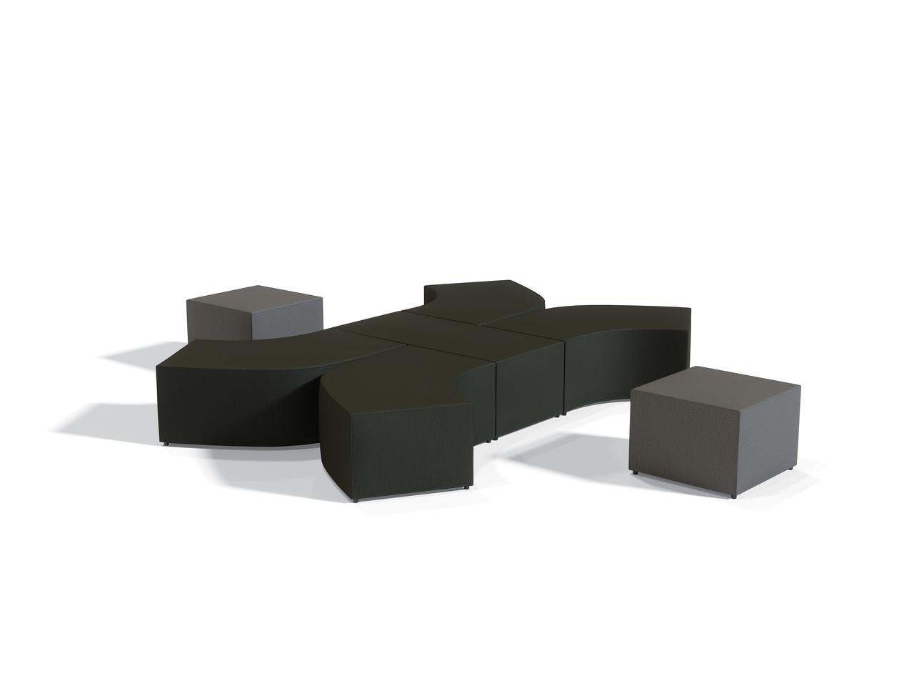 Offices To Go 7 Piece Modular Ottoman Seating Set