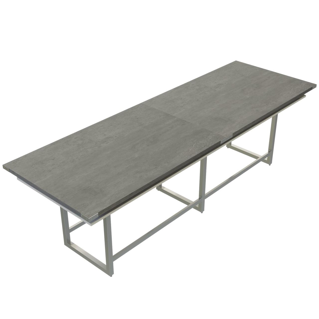 mirella stone gray conference table