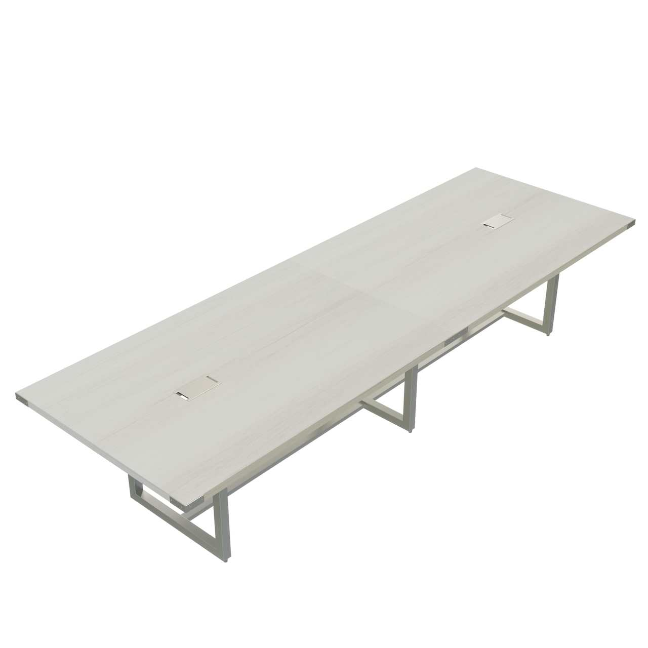mirella white ash 12' conference table
