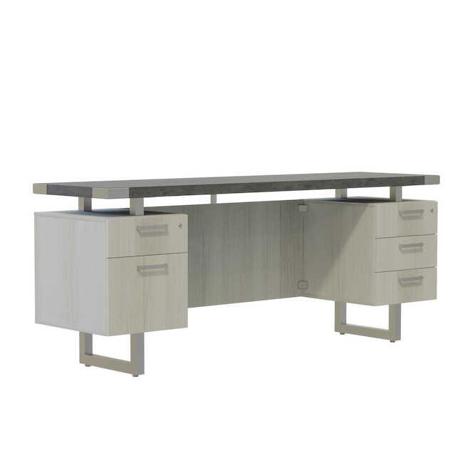 mirella credenza with storage pedestals