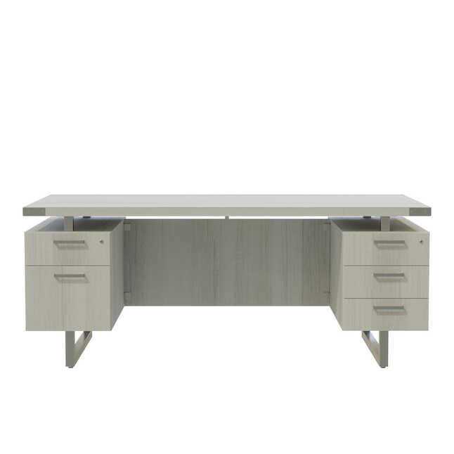 mirella white ash office desk