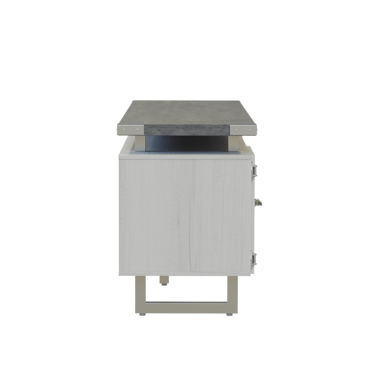 mirella low wall cabinet with stone gray laminate finish