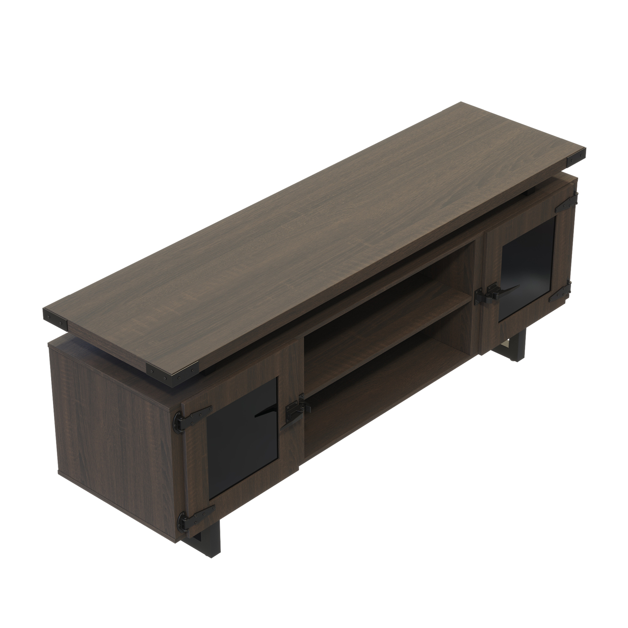 southern tobacco mirella low wall cabinet with black trim