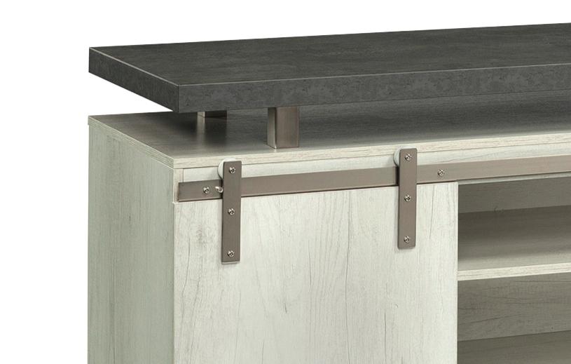 mirella stone gray sliding barn door cabinet trim