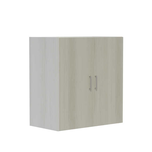 "safco mirella mrwdc 36"" x 20"" storage cabinet with white ash finish"