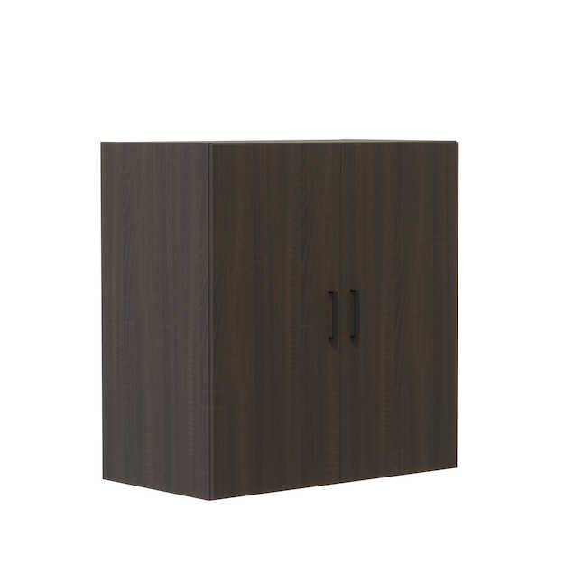 "safco mirella mrwdc 36"" x 20"" storage cabinet with southern tobacco finish"