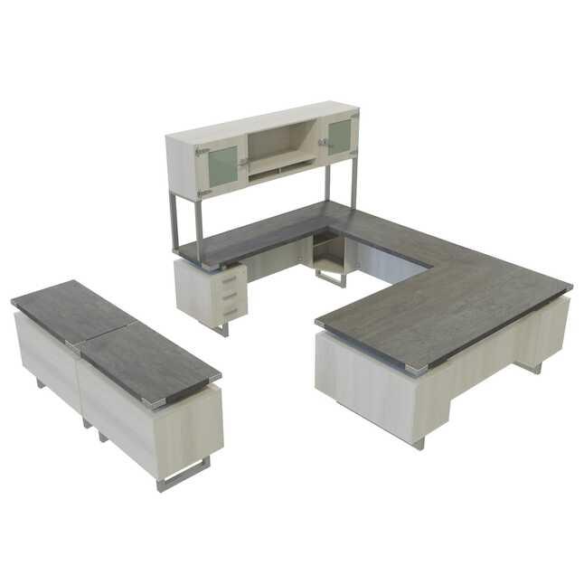 stone gray laminate mirella desk set mr2