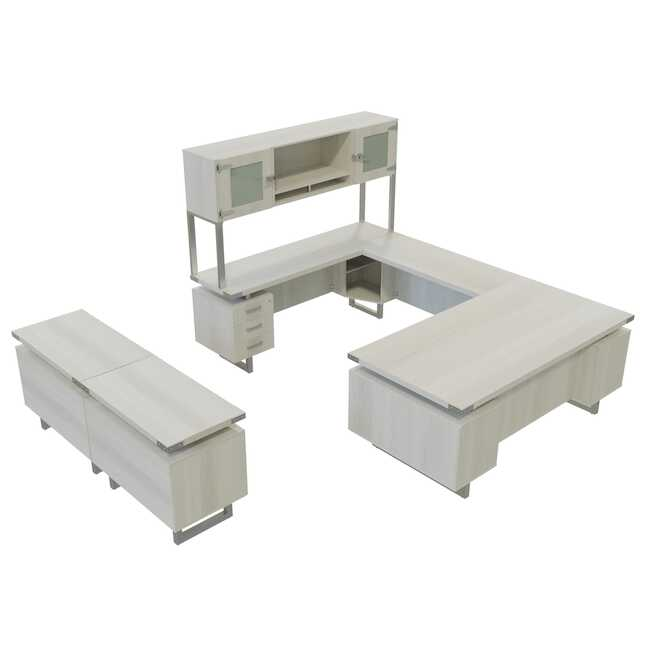 mr2 mirella white ash executive furniture set