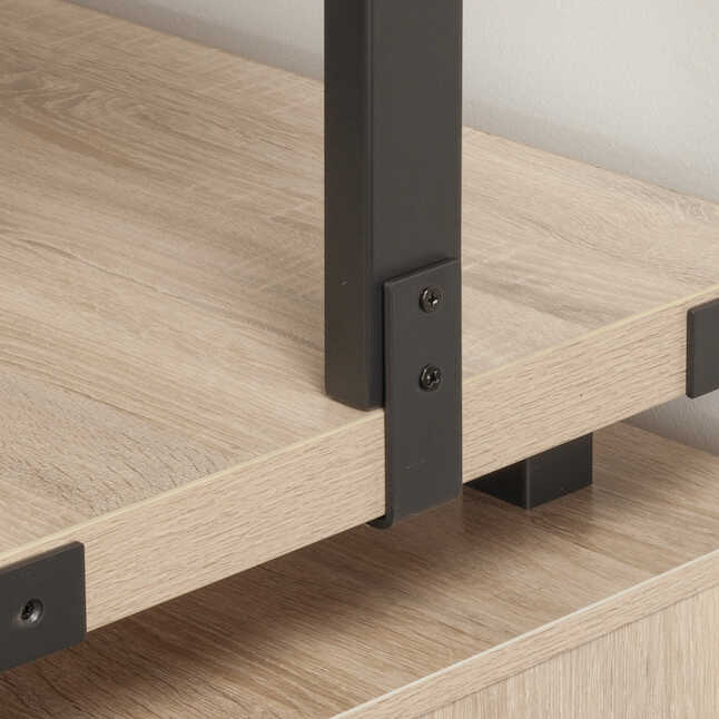 mirella bookcase up-close accent trim