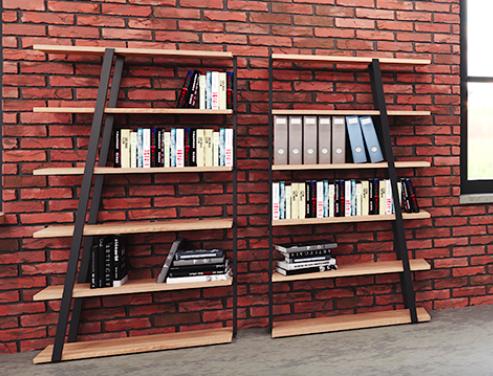 mrbs5 mirella bookcases in sand dune laminate