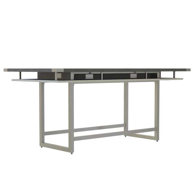 mrch8 mirella 8' conference table with stone gray finish