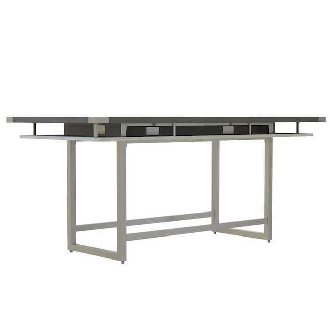 mrch8 mirella 8' conference table with stone gray finish