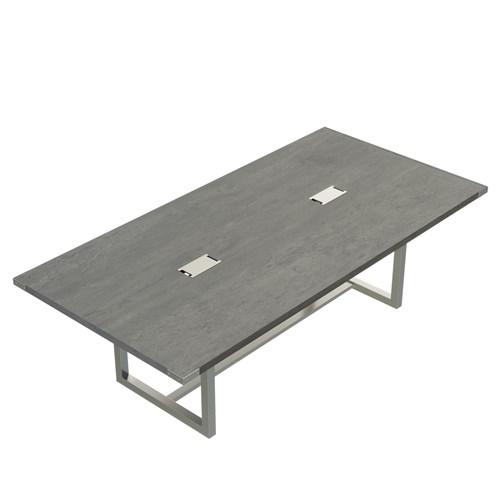 8' stone gray mirella table