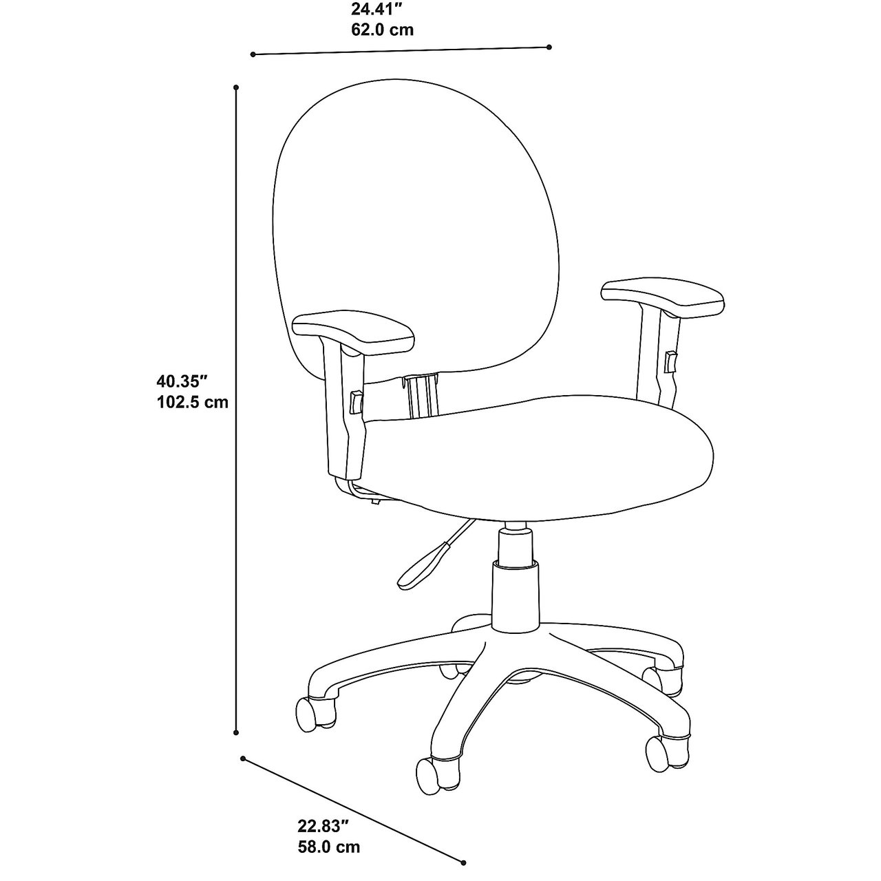 bbf accord task chair dimensions