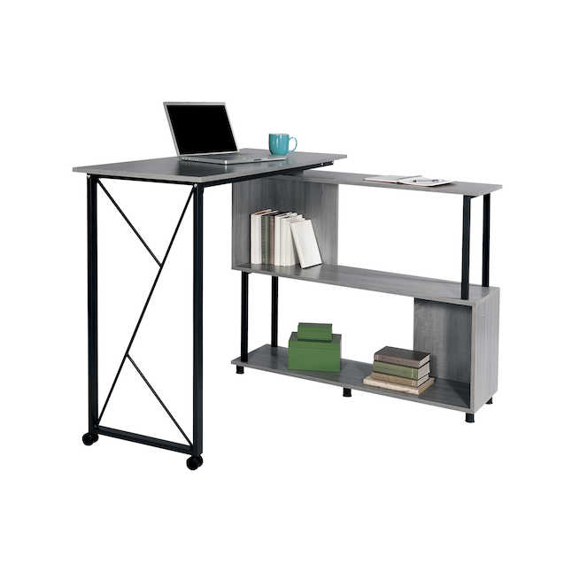 safco mood standing desk with rotating work surface