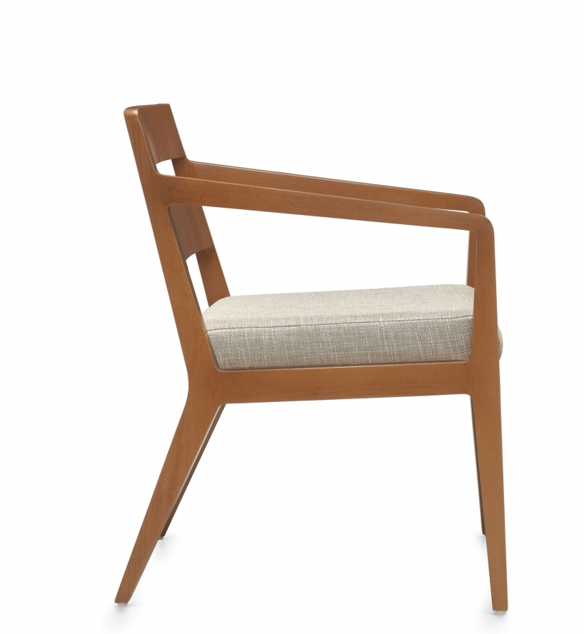 chap wood reception chair side view