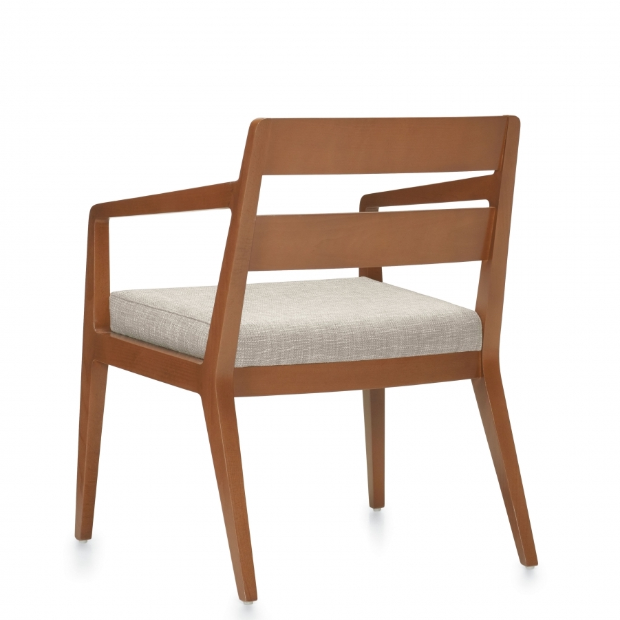 chap wood reception chair back view