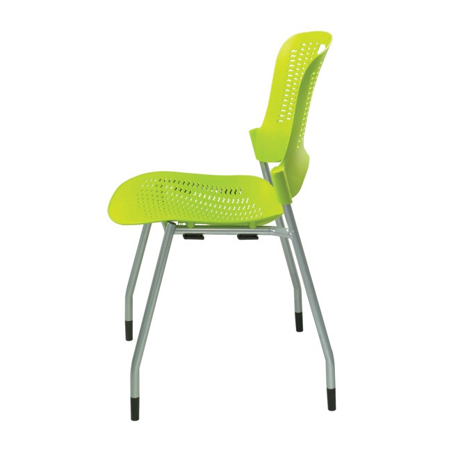 safco sassy stack chair side view