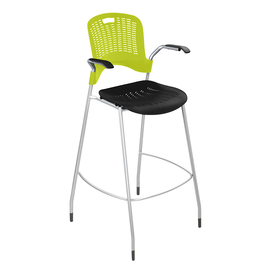 safco sassy stackable bistro height chair with arms