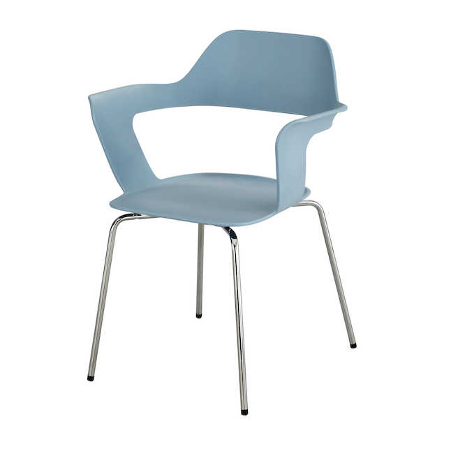 blue brandi shell chair by safco