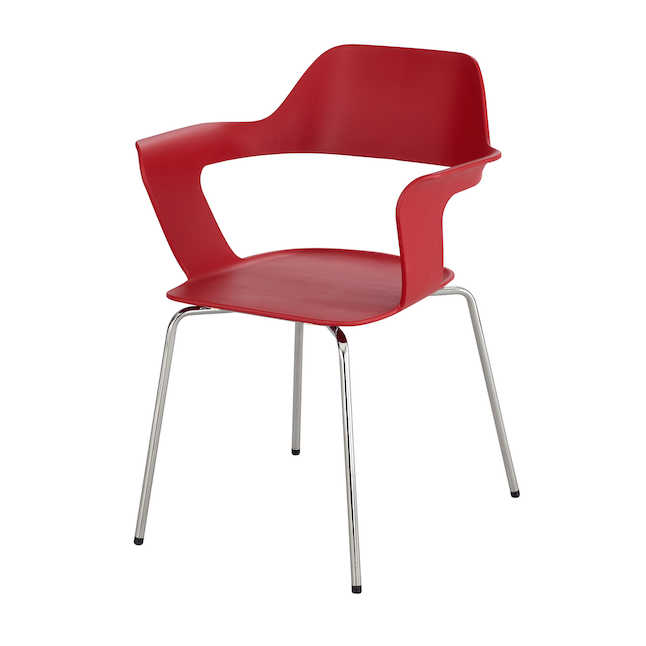 red brandi shell chair by safco