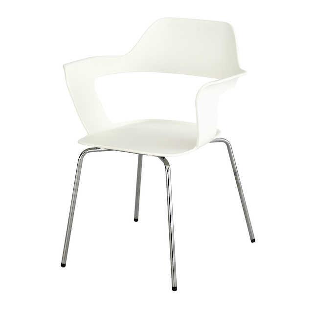 white brandi shell chair by safco