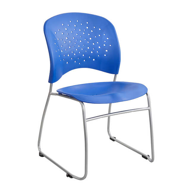 safco reve guest chair in blue