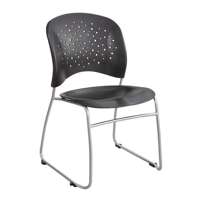 safco reve guest chair in black