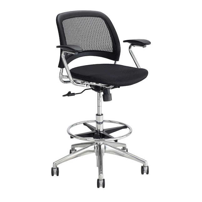 safco reve model 6820bl extended height mesh task stool