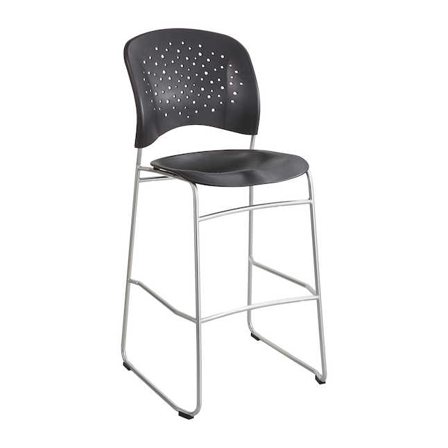 reve bistro height chair in black