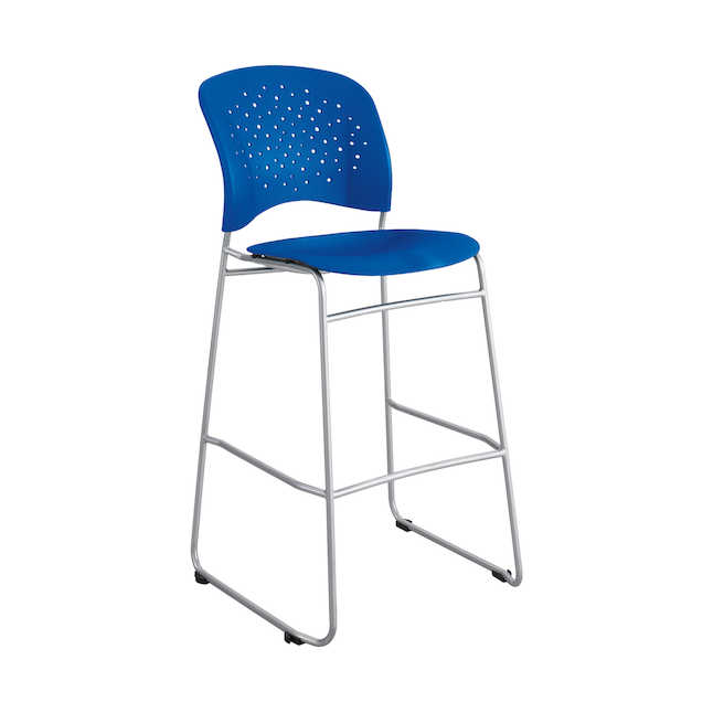 reve bistro height chair in blue