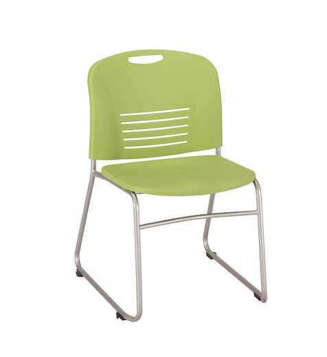 safco vy sled base stack chair 4292 in green