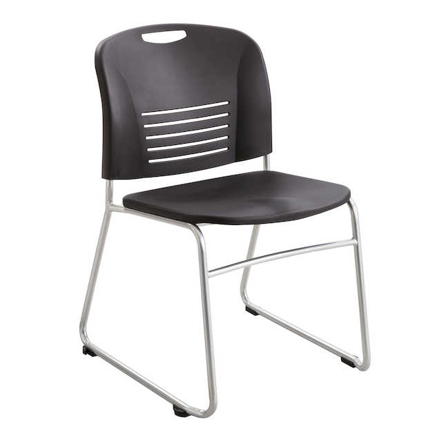 safco vy sled base stack chair 4292 in black