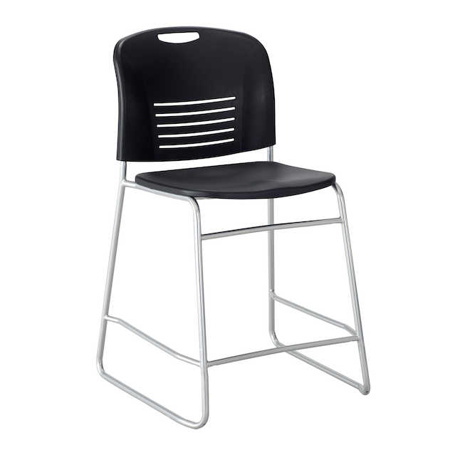 safco vy counter height chair in black