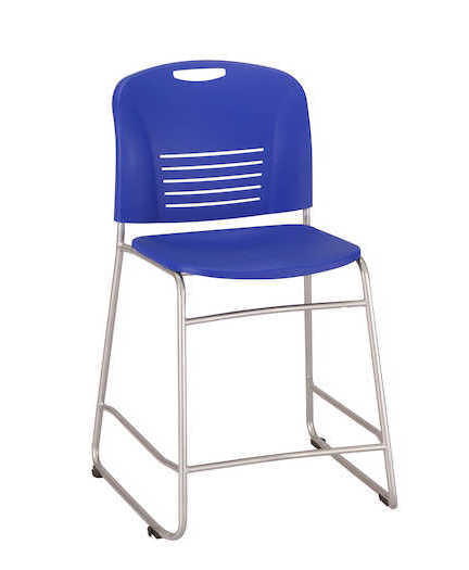 safco vy counter height chair in blue