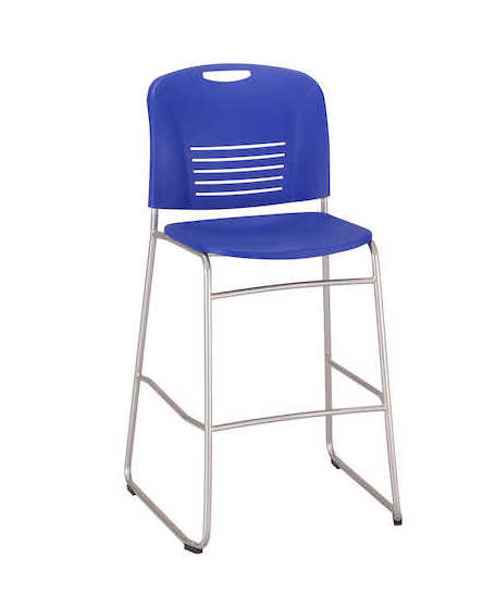 safco vy bistro height chair 4295 in blue