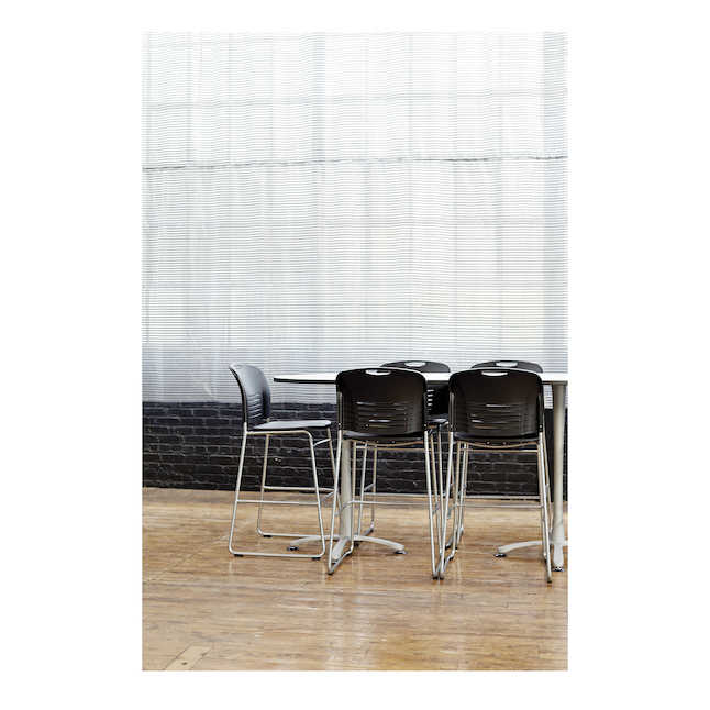 safco vy plastic bistro chairs